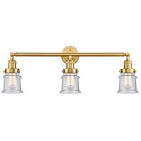 Innovations Lighting 205-SG-G184S-LED Small Canton LED 30 inch Satin Gold Bath Vanity Light Wall Light