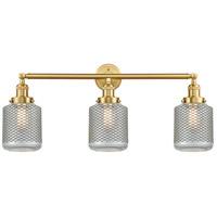 Innovations Lighting 205-SG-G262 Stanton 3 Light 32 inch Satin Gold Bath Vanity Light Wall Light Franklin Restoration