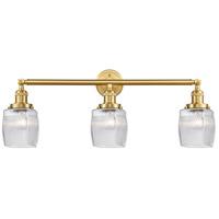 Innovations Lighting 205-SG-G302 Colton 3 Light 32 inch Satin Gold Bath Vanity Light Wall Light Franklin Restoration