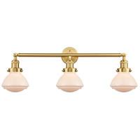 Innovations Lighting 205-SG-G321 Olean 3 Light 31 inch Satin Gold Bath Vanity Light Wall Light Franklin Restoration
