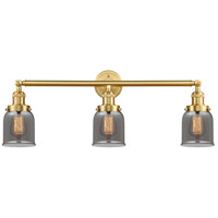 Innovations Lighting 205-SG-G53-LED Small Bell LED 30 inch Satin Gold Bath Vanity Light Wall Light