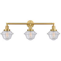 Innovations Lighting 205-SG-G534-LED Small Oxford LED 34 inch Satin Gold Bath Vanity Light Wall Light