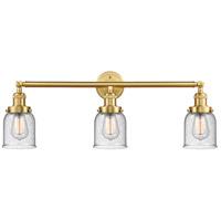 Innovations Lighting 205-SG-G54-LED Small Bell LED 30 inch Satin Gold Bath Vanity Light Wall Light