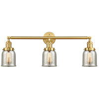 Innovations Lighting 205-SG-G58-LED Small Bell LED 30 inch Satin Gold Bath Vanity Light Wall Light