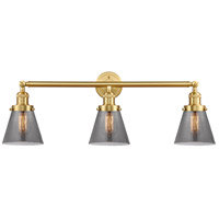 Innovations Lighting 205-SG-G63-LED Small Cone LED 30 inch Satin Gold Bath Vanity Light Wall Light