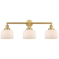 Innovations Lighting 205-SG-G71-LED Large Bell LED 32 inch Satin Gold Bath Vanity Light Wall Light