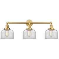 Innovations Lighting 205-SG-G72-LED Large Bell LED 32 inch Satin Gold Bath Vanity Light Wall Light