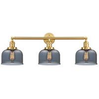 Innovations Lighting 205-SG-G73-LED Large Bell LED 32 inch Satin Gold Bath Vanity Light Wall Light