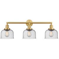 Innovations Lighting 205-SG-G74-LED Large Bell LED 32 inch Satin Gold Bath Vanity Light Wall Light