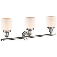 Innovations Lighting 205-SN-G51 Small Bell 3 Light 30 inch Brushed Satin Nickel Bath Vanity Light Wall Light, Franklin Restoration alternative photo thumbnail