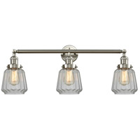 Innovations Lighting 205-SN-S-G142 Chatham 3 Light 30 inch Brushed Satin Nickel Bathroom Fixture Wall Light Adjustable