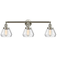 Innovations Lighting 205-SN-S-G172 Fulton 3 Light 30 inch Brushed Satin Nickel Bathroom Fixture Wall Light Adjustable