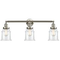 Innovations Lighting 205-SN-S-G182 Canton 3 Light 30 inch Brushed Satin Nickel Bathroom Fixture Wall Light Adjustable