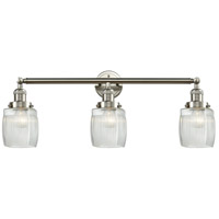 Innovations Lighting 205-SN-S-G302 Colton 3 Light 32 inch Brushed Satin Nickel Bathroom Fixture Wall Light Adjustable