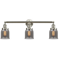 Innovations Lighting 205-SN-S-G53 Small Bell 3 Light 30 inch Brushed Satin Nickel Bathroom Fixture Wall Light Adjustable