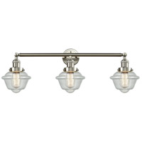 Innovations Lighting 205-SN-S-G534-LED Small Oxford LED 34 inch Brushed Satin Nickel Bathroom Fixture Wall Light Adjustable