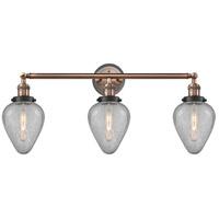 Innovations Lighting 205BP-ACBK-G165 Geneseo 3 Light 32 inch Antique Copper Bath Vanity Light Wall Light
