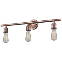 Innovations Lighting 205NH-AC-LED Bare Bulb LED 30 inch Antique Copper Bathroom Fixture Wall Light