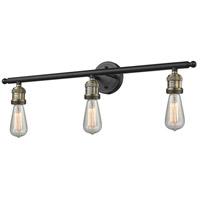 Innovations Lighting 205NH-BAB-LED Bare Bulb LED 30 inch Black Antique Brass Bathroom Fixture Wall Light