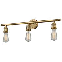 Innovations Lighting 205NH-BB-LED Bare Bulb LED 30 inch Brushed Brass Bathroom Fixture Wall Light