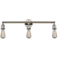 Innovations Lighting 205NH-PN Bare Bulb 3 Light 30 inch Polished Nickel Bathroom Fixture Wall Light