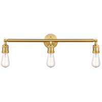 Innovations Lighting 205NH-SG Bare Bulb 3 Light 30 inch Satin Gold Bath Vanity Light Wall Light