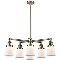 Innovations Lighting 207-6CR-AB-G181S Small Canton 6 Light 28 inch Antique Brass Chandelier Ceiling Light Franklin Restoration