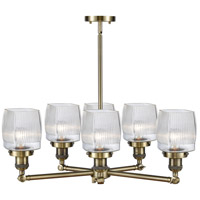 Innovations Lighting 207-6CR-AB-G302 Colton 6 Light 28 inch Antique Brass Chandelier Ceiling Light Franklin Restoration