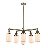 Innovations Lighting 207-6CR-AB-G311 Dover 6 Light 27 inch Antique Brass Chandelier Ceiling Light Franklin Restoration