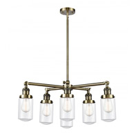 Innovations Lighting 207-6CR-AB-G312 Dover 6 Light 27 inch Antique Brass Chandelier Ceiling Light Franklin Restoration