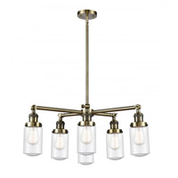 Innovations Lighting 207-6CR-AB-G314 Dover 6 Light 27 inch Antique Brass Chandelier Ceiling Light Franklin Restoration