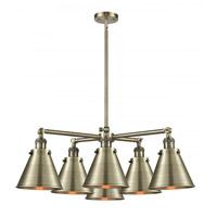 Innovations Lighting 207-6CR-AB-M13-AB Appalachian 6 Light 32 inch Antique Brass Chandelier Ceiling Light Franklin Restoration