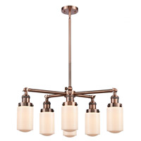 Innovations Lighting 207-6CR-AC-G311 Dover 6 Light 27 inch Antique Copper Chandelier Ceiling Light Franklin Restoration