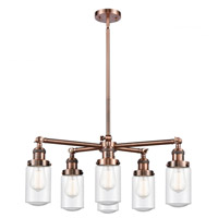 Innovations Lighting 207-6CR-AC-G314 Dover 6 Light 27 inch Antique Copper Chandelier Ceiling Light Franklin Restoration