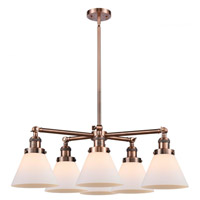 Innovations Lighting 207-6CR-AC-G41 Large Cone 6 Light 32 inch Antique Copper Chandelier Ceiling Light Franklin Restoration