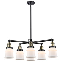 Innovations Lighting 207-6CR-BAB-G181S Small Canton 6 Light 28 inch Black Antique Brass Chandelier Ceiling Light Franklin Restoration