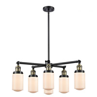 Innovations Lighting 207-6CR-BAB-G311 Dover 6 Light 27 inch Black Antique Brass Chandelier Ceiling Light Franklin Restoration