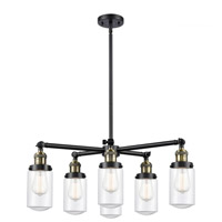 Innovations Lighting 207-6CR-BAB-G312 Dover 6 Light 27 inch Black Antique Brass Chandelier Ceiling Light Franklin Restoration