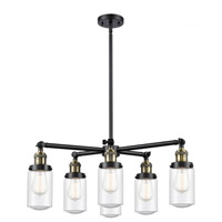 Innovations Lighting 207-6CR-BAB-G314 Dover 6 Light 27 inch Black Antique Brass Chandelier Ceiling Light Franklin Restoration