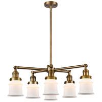 Innovations Lighting 207-6CR-BB-G181S Small Canton 6 Light 28 inch Brushed Brass Chandelier Ceiling Light Franklin Restoration