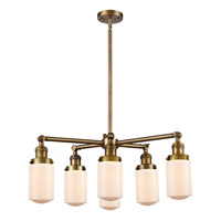 Innovations Lighting 207-6CR-BB-G311 Dover 6 Light 27 inch Brushed Brass Chandelier Ceiling Light Franklin Restoration