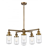 Innovations Lighting 207-6CR-BB-G314 Dover 6 Light 27 inch Brushed Brass Chandelier Ceiling Light Franklin Restoration