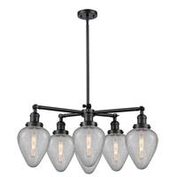 Innovations Lighting 207-6CR-BK-G1 Halophane 6 Light 32 inch Matte Black Chandelier Ceiling Light Franklin Restoration