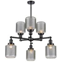 Innovations Lighting 207-6CR-OB-G2 Halophane 6 Light 32 inch Oil Rubbed Bronze Chandelier Ceiling Light Franklin Restoration