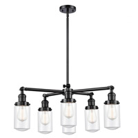 Innovations Lighting 207-6CR-OB-G312 Dover 6 Light 27 inch Oil Rubbed Bronze Chandelier Ceiling Light Franklin Restoration
