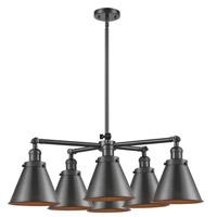 Innovations Lighting 207-6CR-OB-M13-OB Appalachian 6 Light 32 inch Oil Rubbed Bronze Chandelier Ceiling Light Franklin Restoration