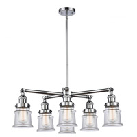 Innovations Lighting 207-6CR-PC-G1 Halophane 6 Light 32 inch Polished Chrome Chandelier Ceiling Light Franklin Restoration