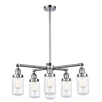 Innovations Lighting 207-6CR-PC-G312 Dover 6 Light 27 inch Polished Chrome Chandelier Ceiling Light Franklin Restoration