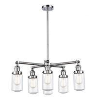 Innovations Lighting 207-6CR-PC-G314 Dover 6 Light 27 inch Polished Chrome Chandelier Ceiling Light Franklin Restoration