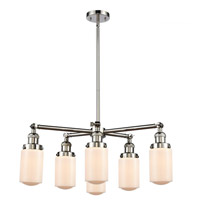 Innovations Lighting 207-6CR-PN-G311 Dover 6 Light 27 inch Polished Nickel Chandelier Ceiling Light Franklin Restoration